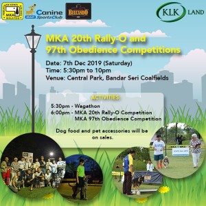 MKA 20th Rally-O and 97th Obedience Competitions @ Central Park